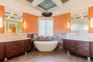 orange bath